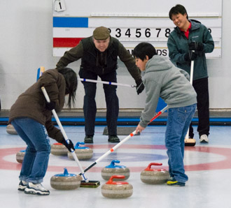 family curling